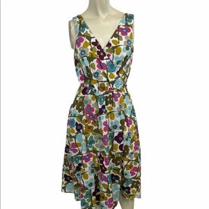 Tommy Bahama Pansies Asquare Wrap Dress Small NWT